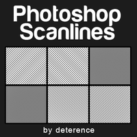 Scanline Patterns Set 1 by deterence
