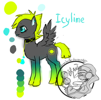 Icylime pony OC by StereoJester