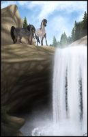 The Waterfall by Paardjee