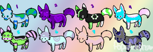 .:Wolf Adoptables:. by PopsAdopts