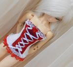 White and red MSD corset by ceressiass