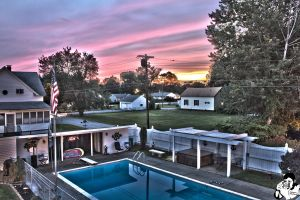 Sunset Over Plantation Pool HDR by patganz