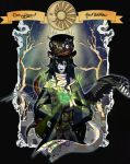 Poster. One Winged Mad Hatter by Kazuoh