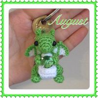 Tiny August Birtshtone Dragon by Amaze-ingHats