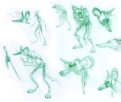 Voodoo Painted Wolf concepts by moth-eatn