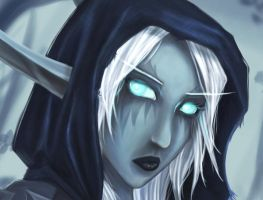 Portrait of a Death Knight by inkjetcanvas