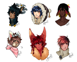 Stream Headshots [Commissions] by Kunamei