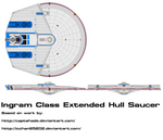 Ingram Class Extended Hull Saucer Request by kaisernathan1701