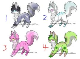 Fox Adopts 3 - CLOSED by KalineReine