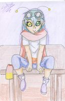 Martian on a table by Satomi-Mreow