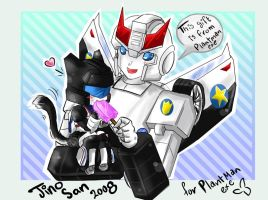 TFG1:Prowl feeds Jazz Icecream by JinoSan