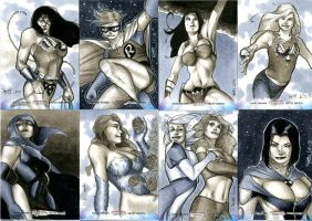 Women of Legend Sketch Cards 01 by RichardCox