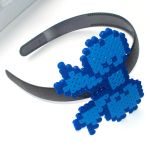 Perler Bow Headband - Blue by Jennifer-EA