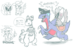 PMD-E Doodles by crayon-chewer