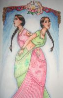 Parvati and Padma Patil by mjOboe
