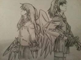 Angel and Yuri from Angel Beats! by Pcolt45
