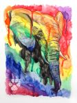 Elephant Hues by Wolfish-Dreams