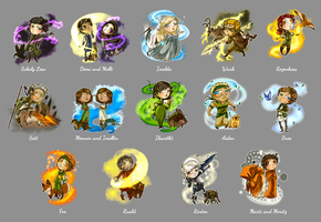 Bobbleheads - Mages of Esralin by Sleyf