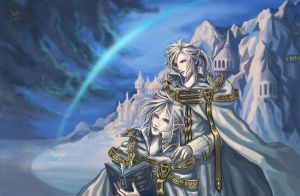 Twins of Snow-Aeon and Noah by Athena-Erocith