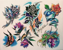 Flowers by Artistic-Tattooing