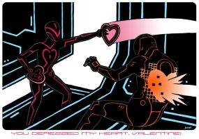 Tron Valentine by JoelRCarroll