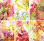 Blossomed - WATERCOLOR STOCK PACK by AuroraWienhold