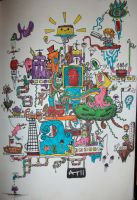 Imagination Land -coloured by Crooked-Raven