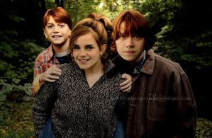 Hermione, Ron and son 2 by KMeaghan