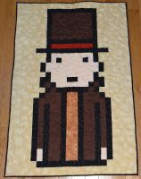 Professor Layton Quilt by quiltoni