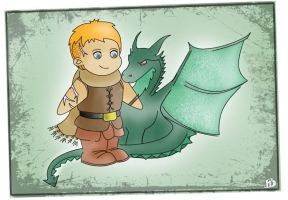 Charlie The Dragon Tamer by FloraDelaney