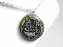 Chinchilla Pendant Necklace by sobeyondthis