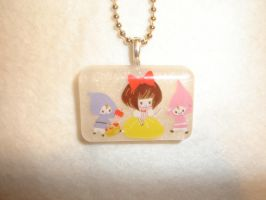 Snow White Resin Necklace by kiddomerriweather