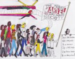 Merry Marvel Marching Society by onyxswami