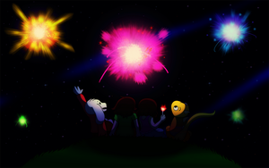 Undertale: Summer Fireworks by CoolFireBird