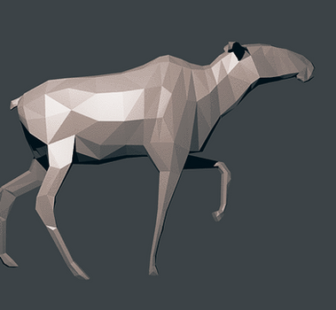 Low-poly moose turnaround [POSED] by Flubberwurm