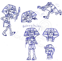 Sketches of Tutenstein by SailorRaybloomDZ