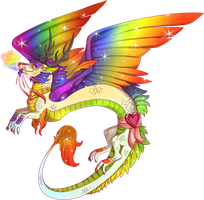 Pride Dragon! by Kingfisher-Gryphon
