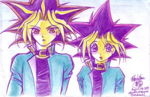 YGO: Yami and Yugi looking at by Kriska