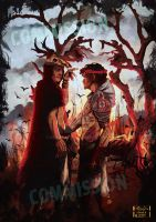 Hannibal Dante and Virgil at the gate to hell by NoahWhite