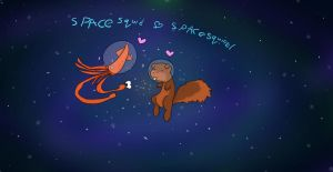 Space Love by Bringer-of-Evil
