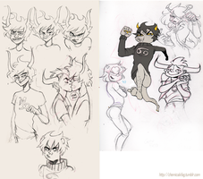 Homestuck collage 2 by Peek-aBoo