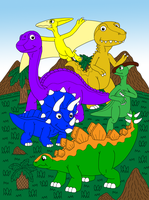Mcsaurus's Dinosaurs In The Valley by DinoLover09