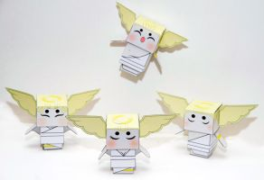 Okami Celestials - Christmas Angel Cubeecraft by scarykurt