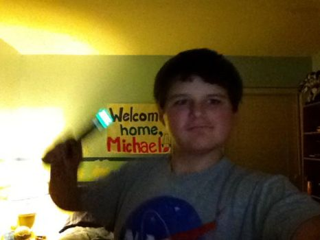 Me and my new SONIC SCREWDRIVER by Mickeymouseisgay