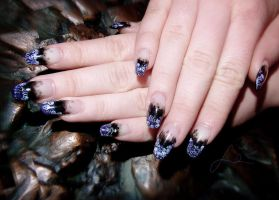 A Pile Of Corpses gel nails by Undomiele