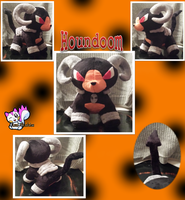 Minky Houndoom Plushie (2) :Sold: by Ami-Plushies