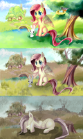 MLP Fluttershy comic- The falling by AquaGalaxy