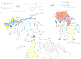 My 3 favorite Pokemon!! by mermaidgirl013