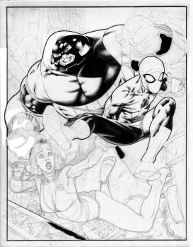 comissiion inks and pencils by PauloSiqueira