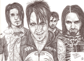 Papa Roach portrait by LuckyPineapple